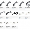 Thumbnail image for Bridge handles for cabinets, drawers, cases, instruments, panels,
