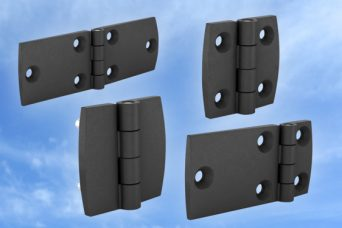 Polyamide hinges for storage boxes, personal storage, specialist panels and machine panels
