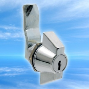 Chrome finish wing lock with master key system from FDB Panel Fittings