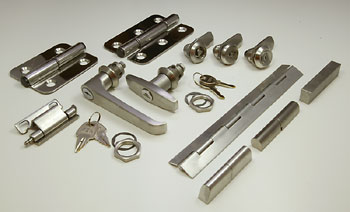 stainless steel locks, hinges and handles