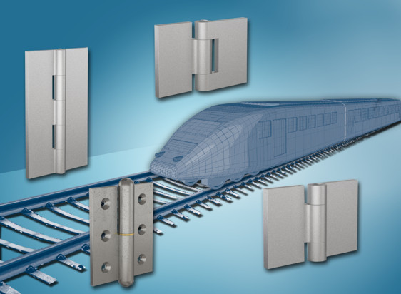New heavy duty hinges from FDB Panel Fittings for railways, garage doors, gates and agricultural equipment