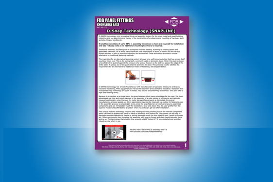 FDB Panel Fittings D-SNAP technology knowledge base guide
