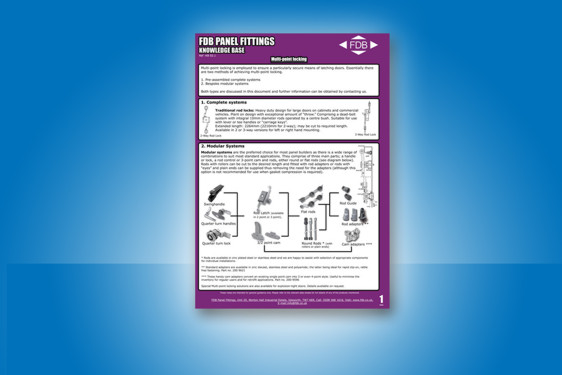 Guidance on multi-point locking from FDB Panel Fittings
