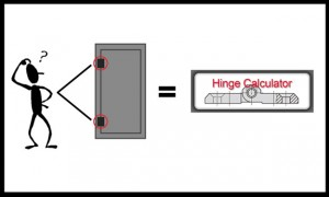 Hinge calculator tool from FDB Panel Fittings