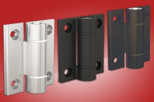 Aluminium spring hinges from FDB Panel Fittings with friction or detent design