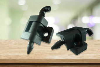 180 degree polyamide hinges from FDB Panel Fittings