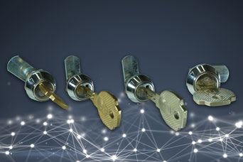 Giussani reprogrammable quarter-turn lock from FDB Panel Fittings