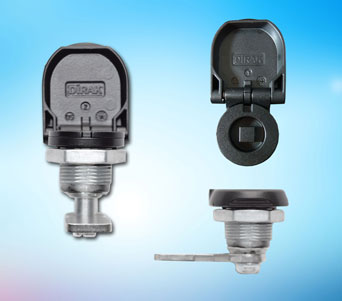 IP65/IP67 Compression Latch from FDB Panel Fittings, with protective cover flap