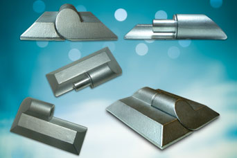 Stainless steel panel hinges from FDB Panel Fittings