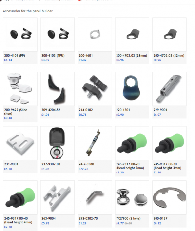 FDB Panel Fittings accessories