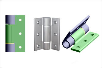 Pinet soft-close aluminium hinges from FDB Panel Fittings