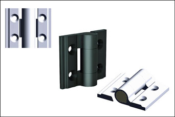 PINET 30mm aluminium hinges from FDB Panel Fittings
