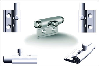 PINET aluminium barrel bolts from FDB Panel Fittings
