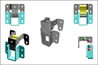 Pinet stainless steel concealed hinges from FDB Panel Fittings