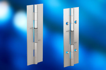 New spring hinge, new features for ease of operation from Pinet via FDB Panel Fittings