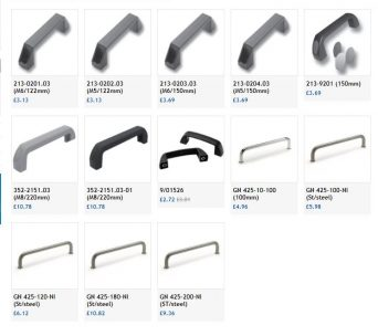 FDB Panel Fittings Bridge handles