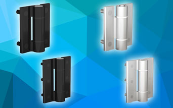 New Pinet aluminium spring hinges from FDB Panel Fittings